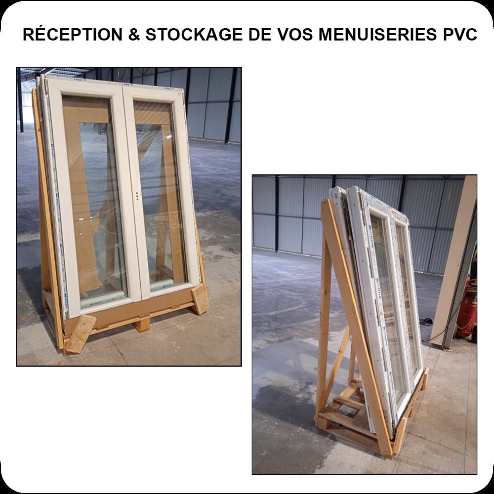 Réception et Stockage de Fenêtres PVC