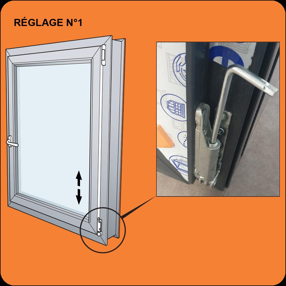 Réglage Hauteur Fenêtre PVC