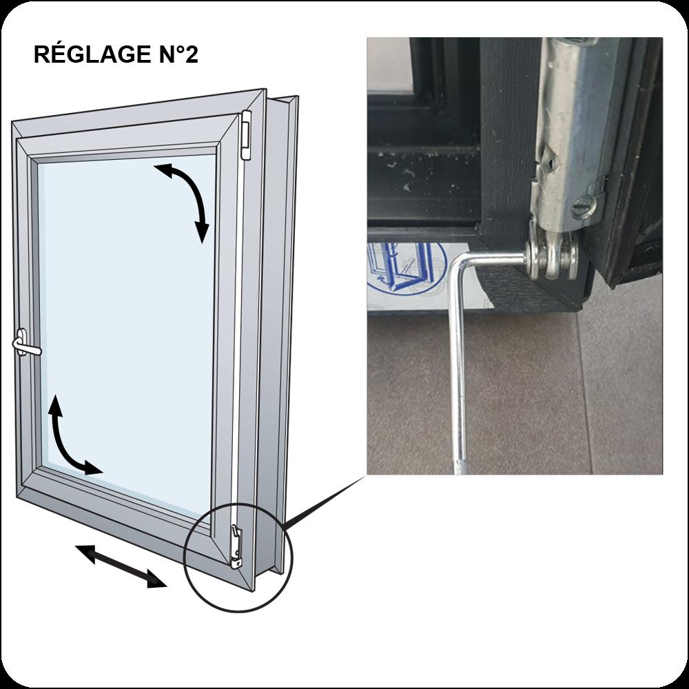 Réglage Largeur Fenêtre PVC