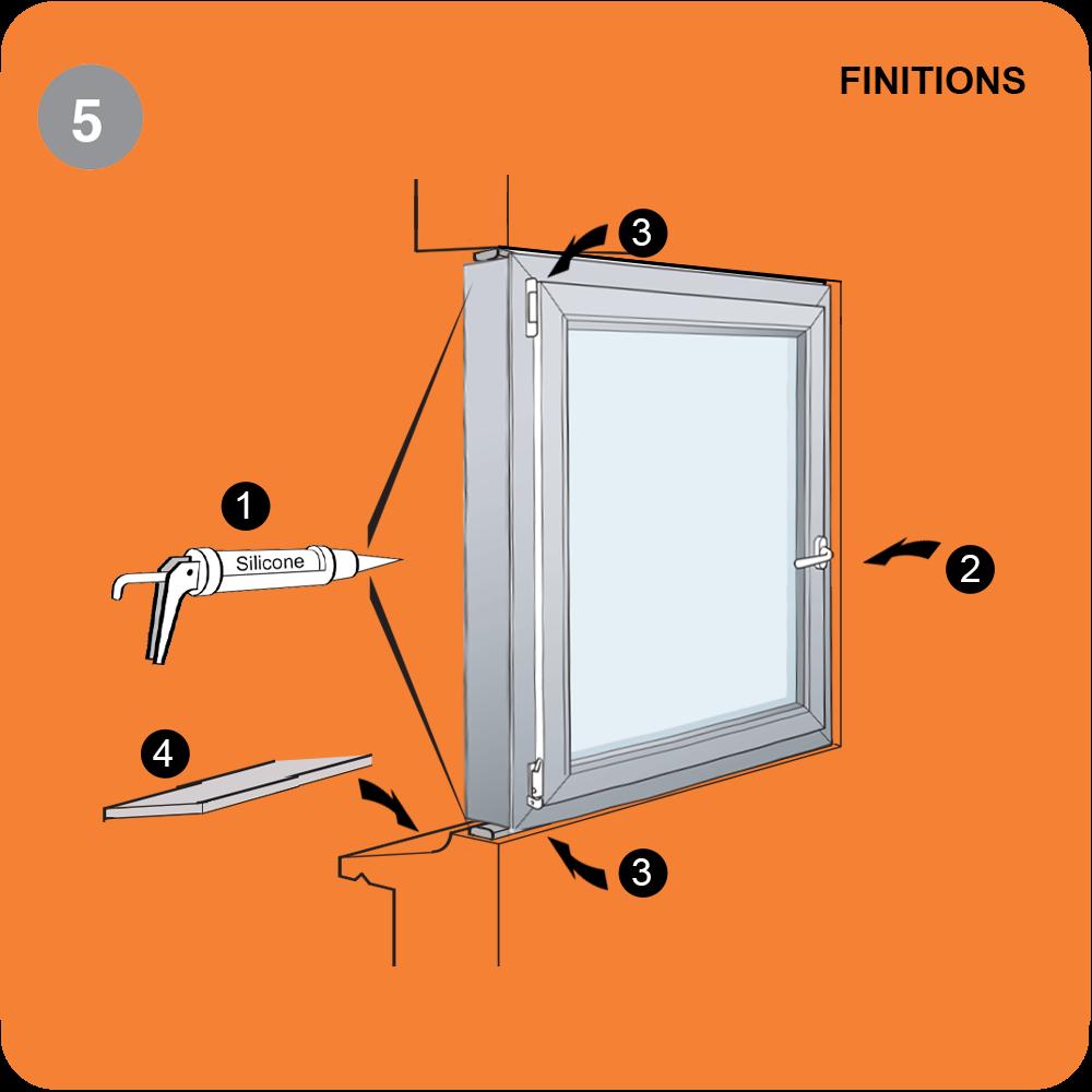 Pose de fenêtre et porte fenêtre  en tunnel étape 5